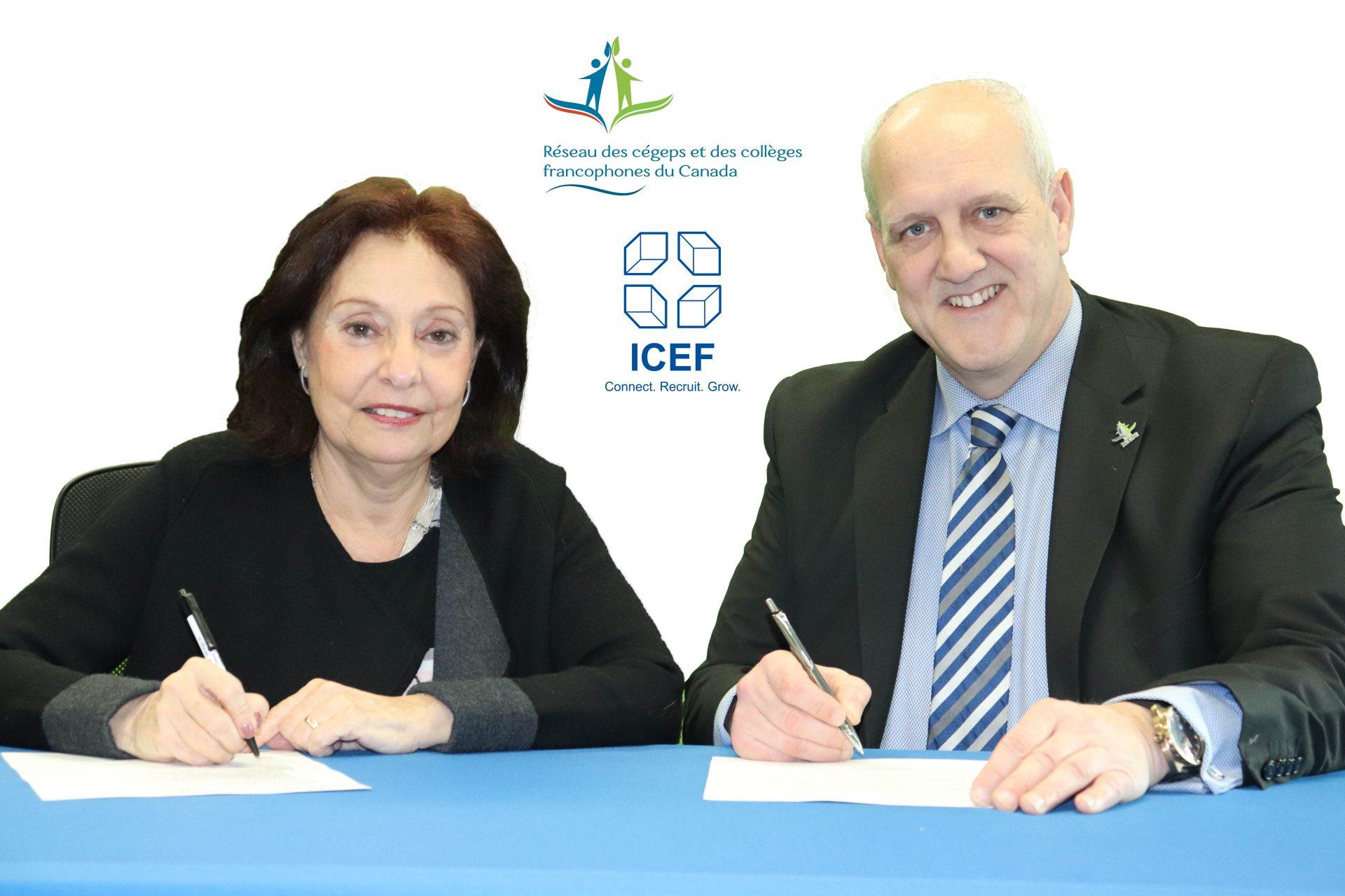 Sur la photo : Monèle Schrot, Directrice des programmes en langue française et Jean Léger, Directeur général du RCCFC.